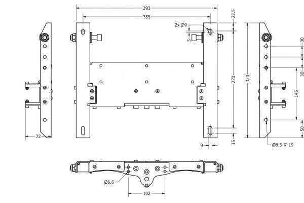 Motion Platform HS-203 - Dimensions