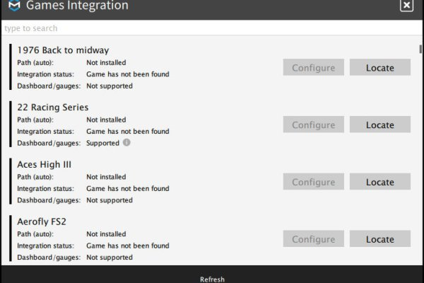 ForceSeatPM Games Integration